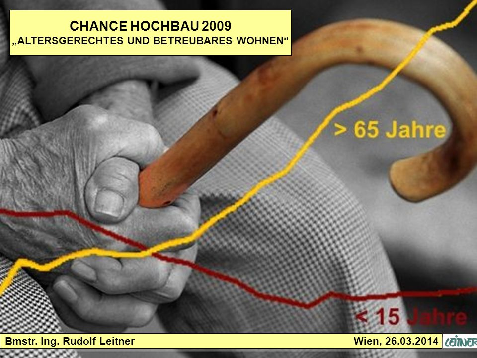 26.03.2014 Seite 2 ALTERSGERECHTES UND BETREUBARES WOHNEN Demografische Entwicklung anhand des Geburtenjahrganges 1965