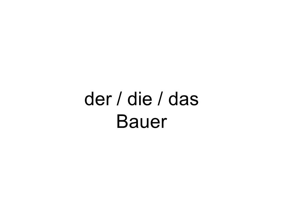 der / die / das Bauer