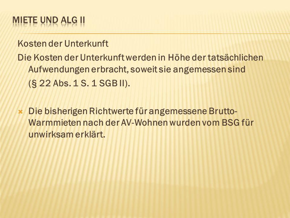 Wohnaufwendungsverordnung (WAV) seit 01.05.2012 Seit dem 1.