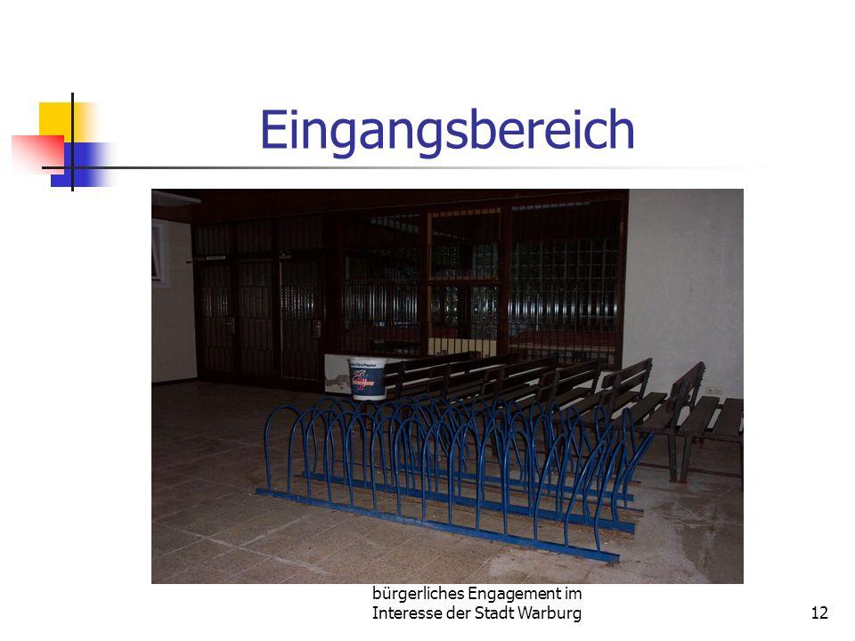 bürgerliches Engagement im Interesse der Stadt Warburg12 Eingangsbereich