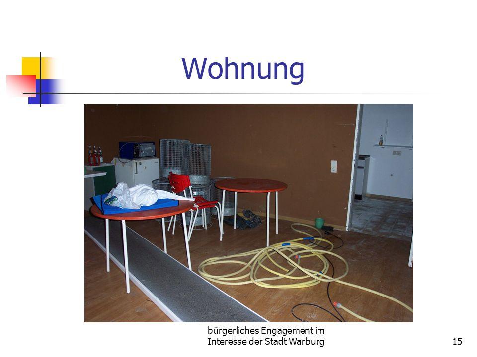 bürgerliches Engagement im Interesse der Stadt Warburg15 Wohnung