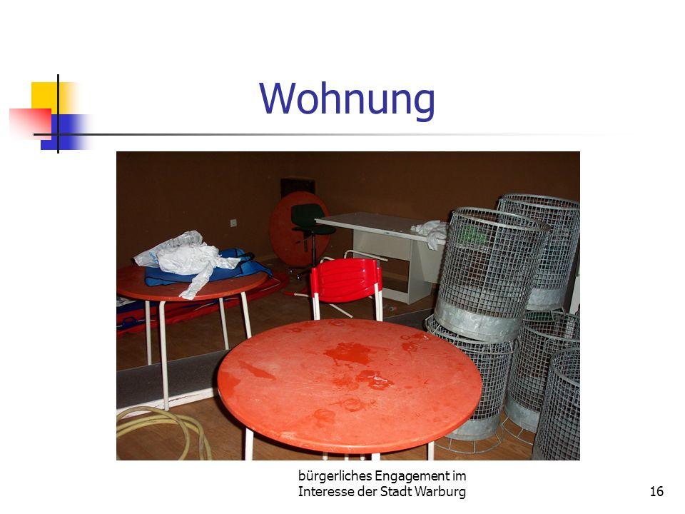 bürgerliches Engagement im Interesse der Stadt Warburg16 Wohnung