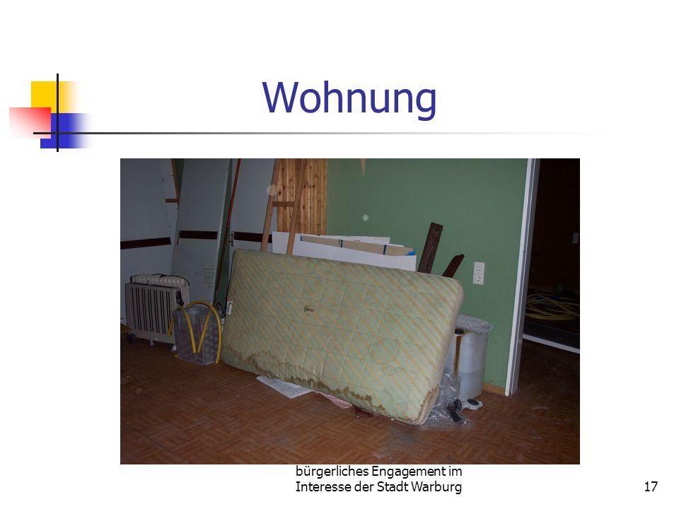 bürgerliches Engagement im Interesse der Stadt Warburg17 Wohnung