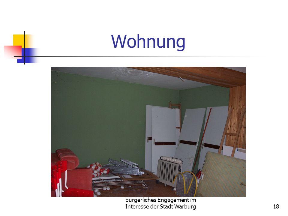 bürgerliches Engagement im Interesse der Stadt Warburg18 Wohnung