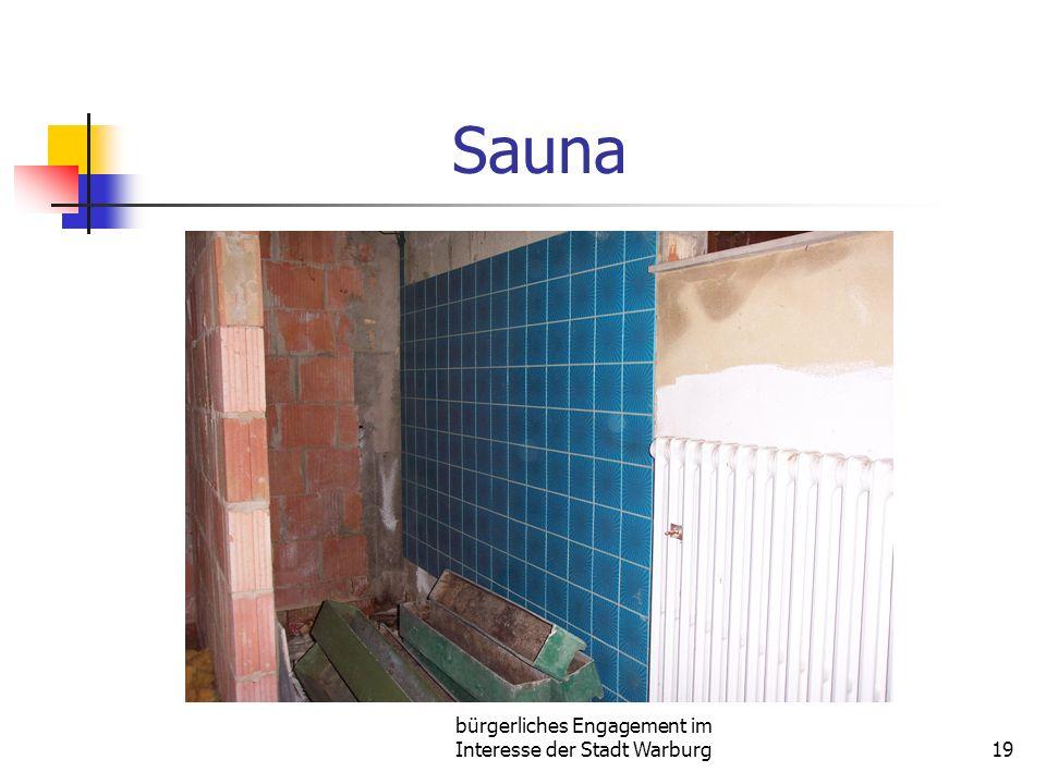 bürgerliches Engagement im Interesse der Stadt Warburg19 Sauna