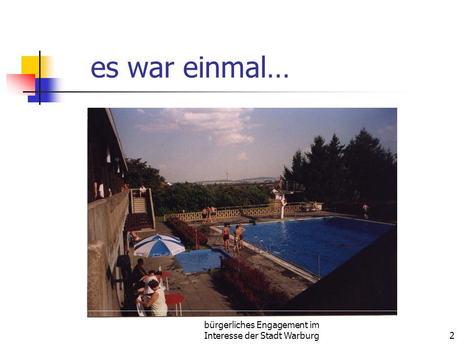 bürgerliches Engagement im Interesse der Stadt Warburg2 es war einmal…