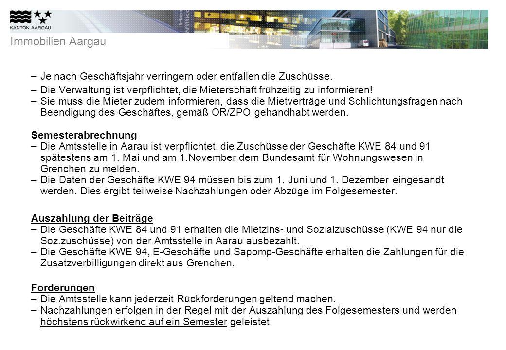 Immobilien Aargau Formularbearbeitung –WEG / KWE -Nummer und Adresse sind zu vermerken.