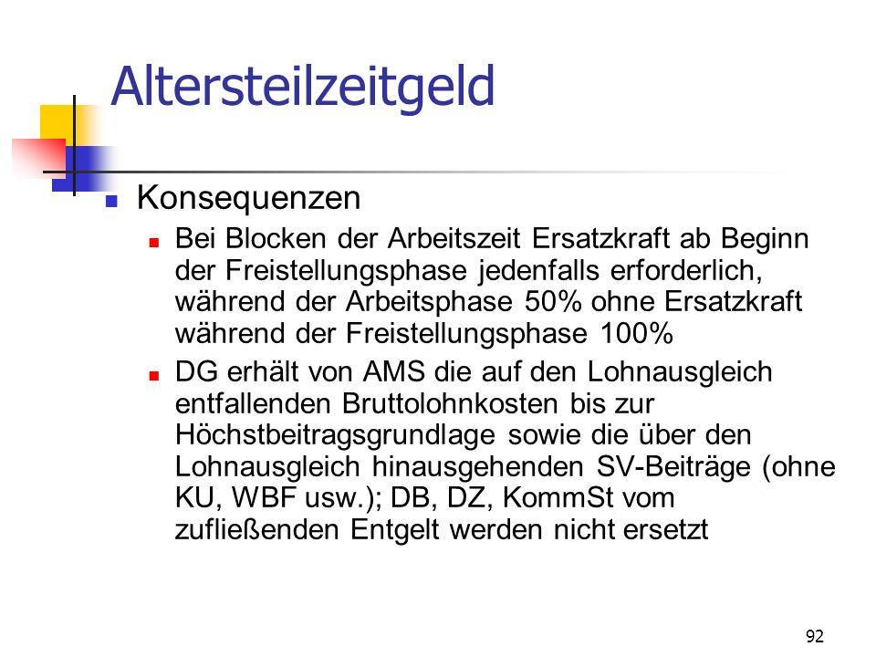 93 Altersteilzeitgeld - Übergangsregelung Für Altersteilzeitvereinbarungen bis 31.