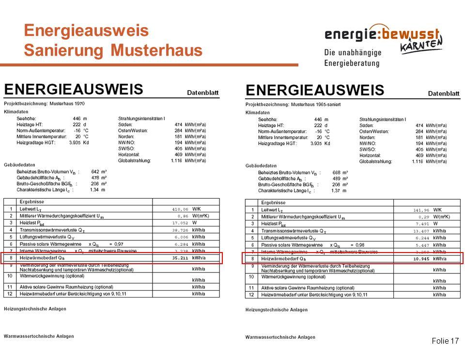 Energieausweis Sanierung Musterhaus Folie 17