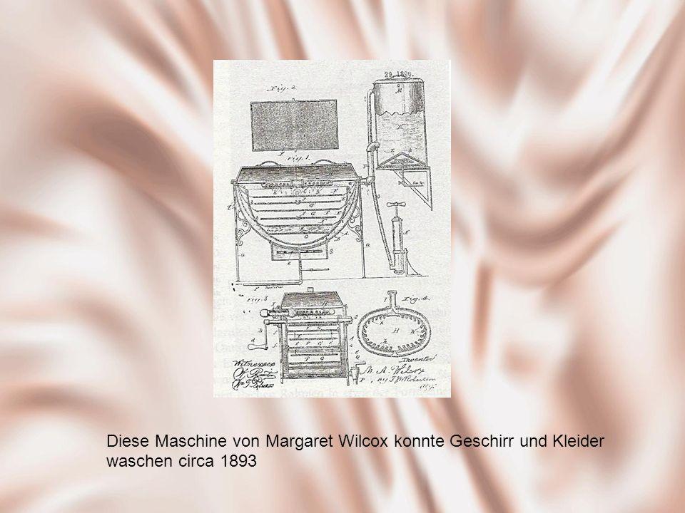 Diese Maschine von Margaret Wilcox konnte Geschirr und Kleider waschen circa 1893