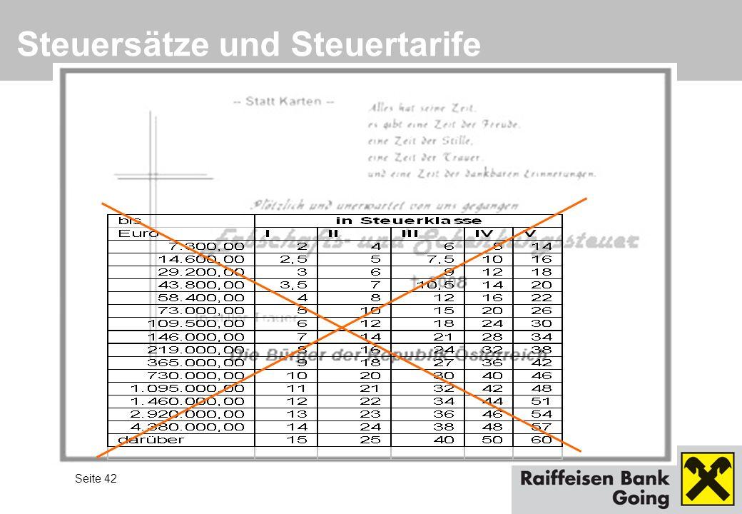 Seite 42 Steuersätze und Steuertarife