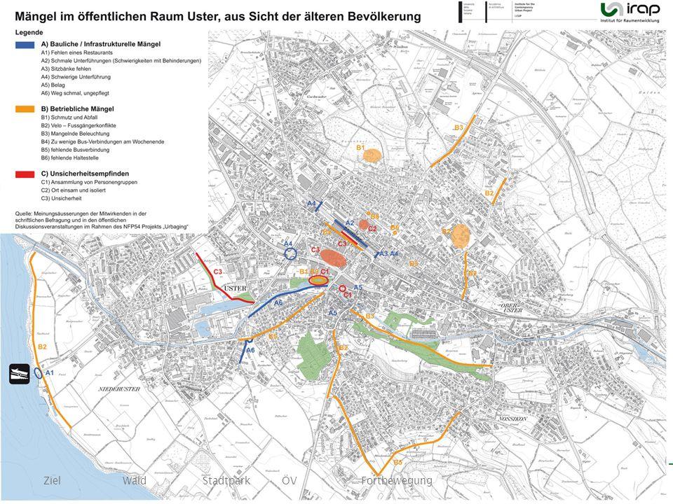 25 Ziel Wald Stadtpark ÖV Fortbewegung