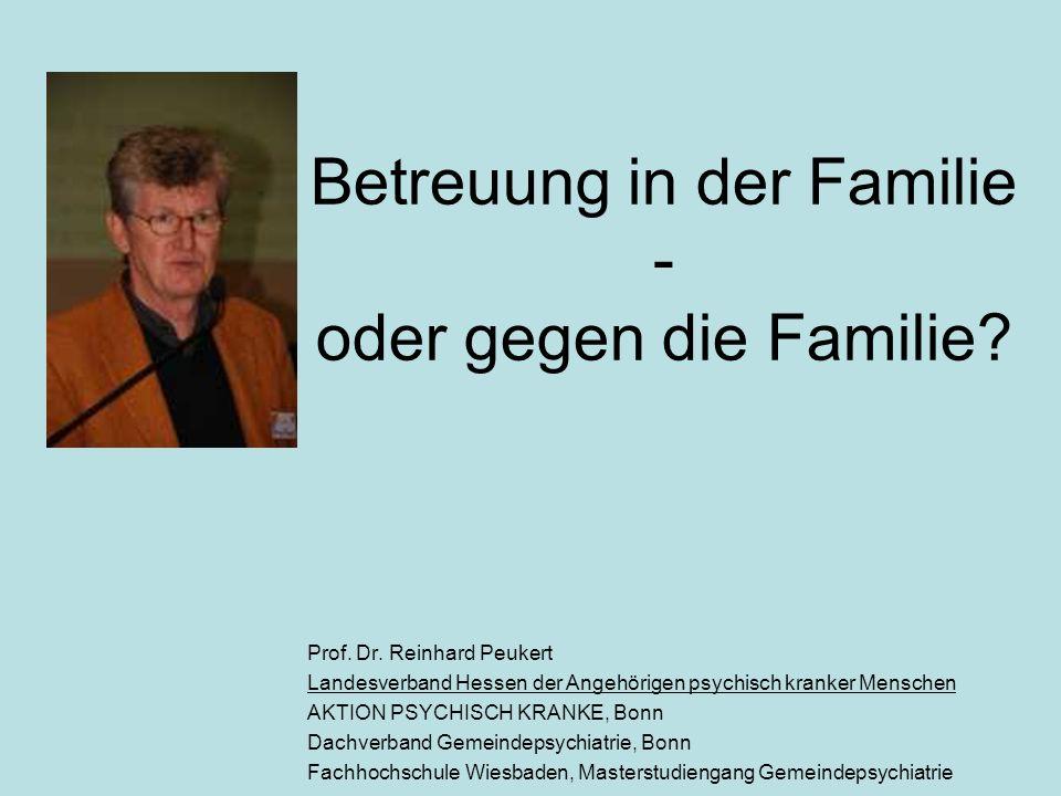 Betreuung in der Familie - oder gegen die Familie.