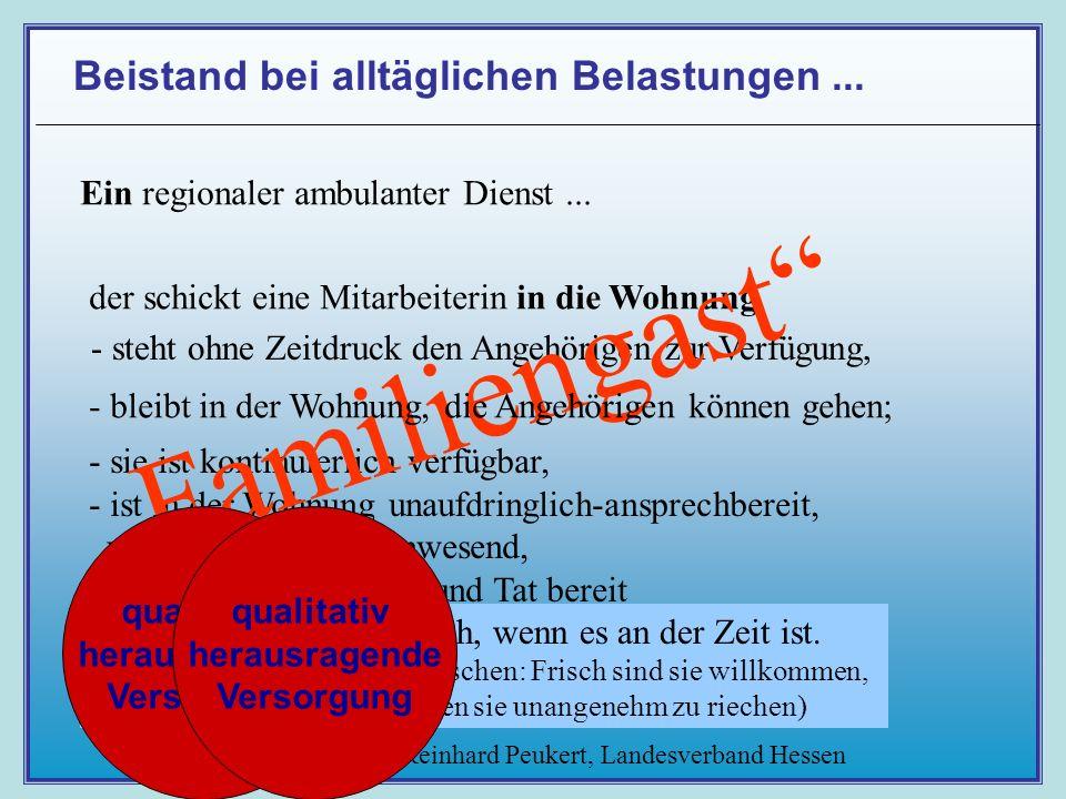 Prof. Dr. Reinhard Peukert, Landesverband Hessen Beistand bei alltäglichen Belastungen...