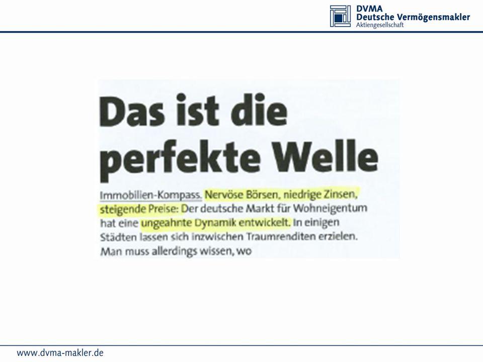 Immobiliengrößenordnungen/ Kaufpreise 3 Neubauprojekte: Kaufpreise 110.000 EUR bis 160.000 EUR KFW gefördert, pro Wohnung 50.000 EUR