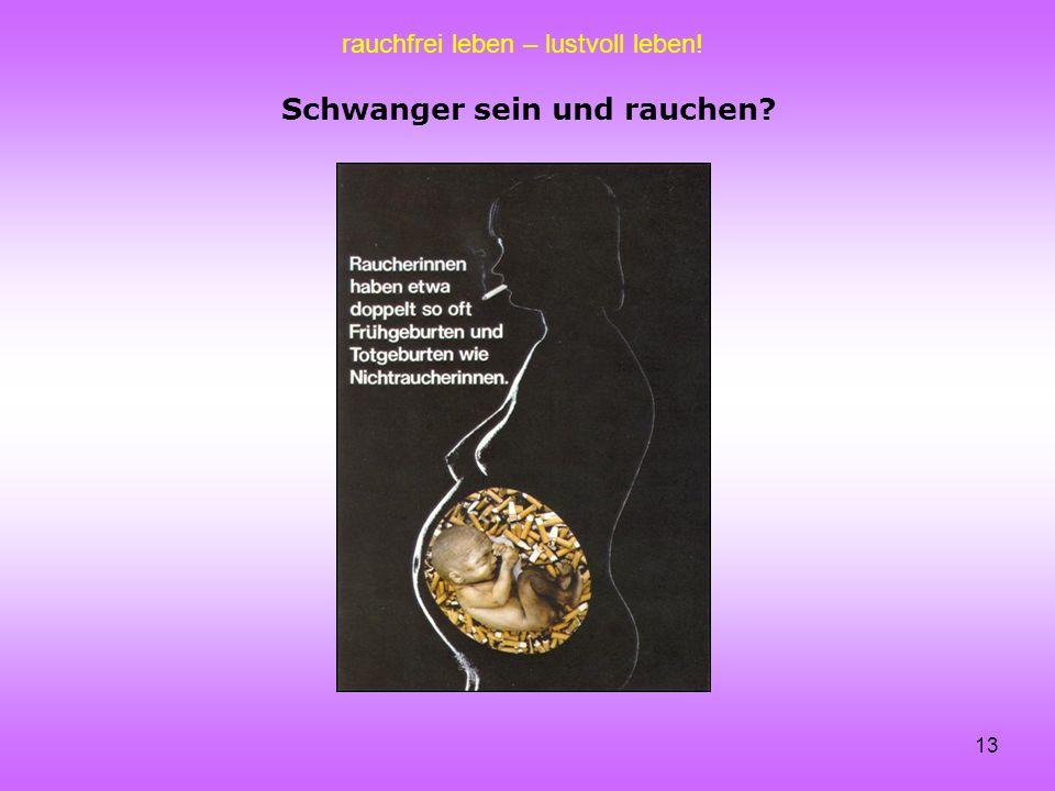 rauchfrei leben – lustvoll leben! 13 Schwanger sein und rauchen?