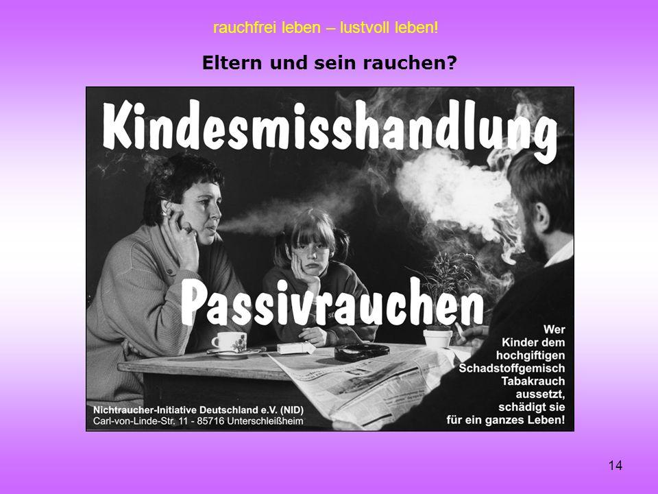rauchfrei leben – lustvoll leben! 14 Eltern und sein rauchen?