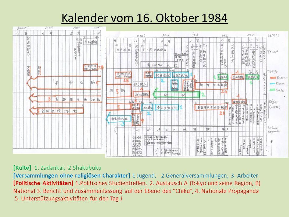 Kalender vom 16.Oktober 1984 [Kulte] 1.
