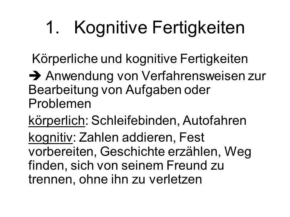 Übersicht 1.Kognitive Fertigkeiten 2.Erwerb von kognitiven Fertigkeiten 1.Zwei-Prozess-Theorie von Shiffrin & Schneider 2.ACT-Modell von Anderson 3.Pr