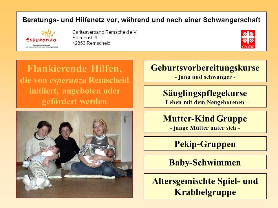 Caritasverband Remscheid e.V. Blumenstr.9 42853 Remscheid Mutter-Kind Gruppe - junge Mütter unter sich - Geburtsvorbereitungskurse - jung und schwange
