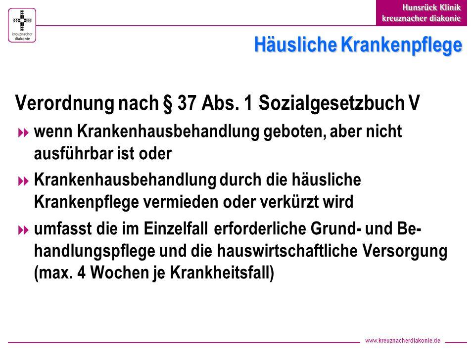 www.kreuznacherdiakonie.de Medizinische Rehabilitation Akutgeriatrie Einweisung durch den behandelnden Arzt Geriatrische Rehabilitation Antrag bei der Krankenversicherung (Patient und Hausarzt)