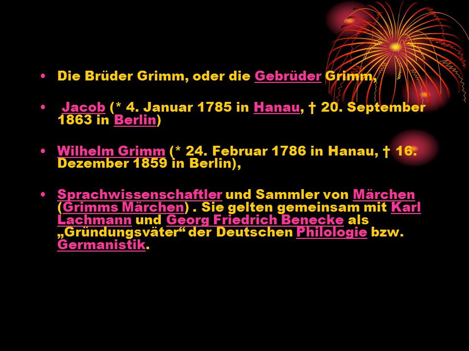 Die Familie Grimm ist in Hanau beheimatet.