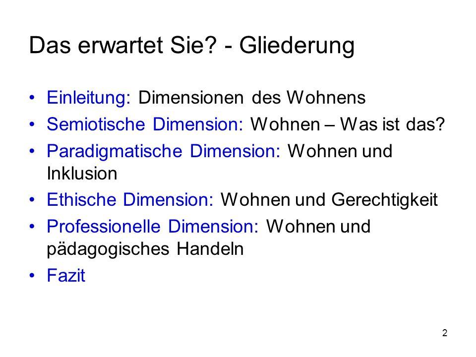 13 Semiotische Dimension: Wohnen – Was ist das.
