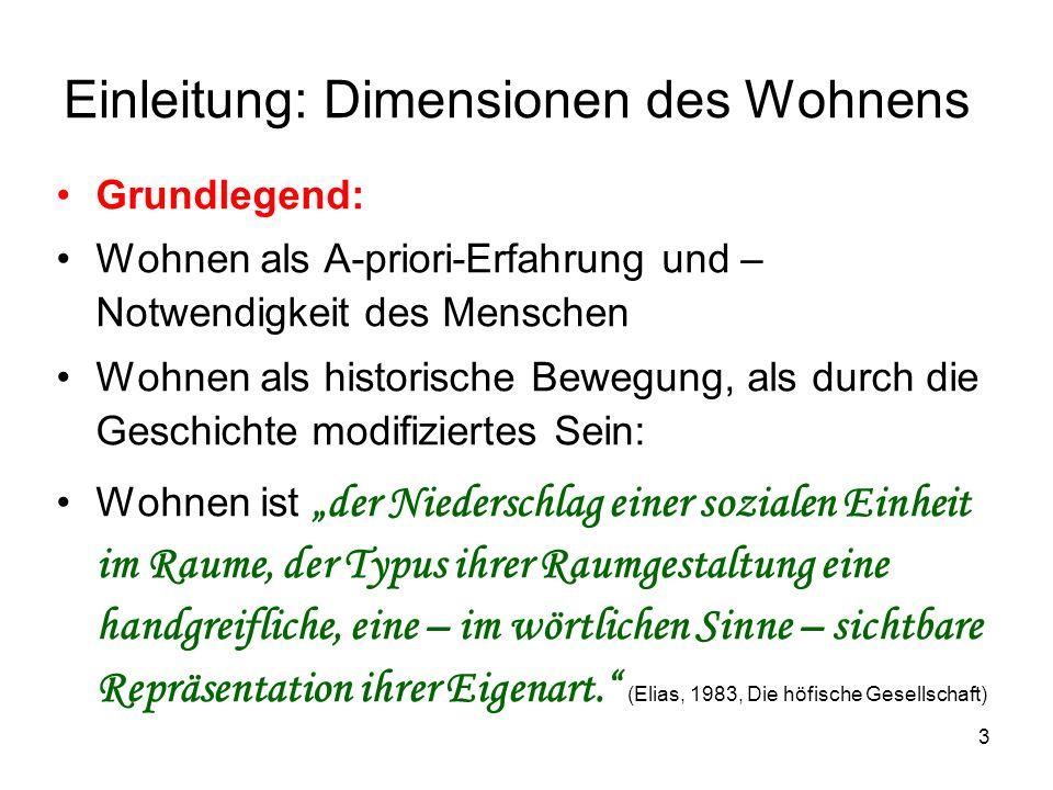 24 Paradigmatische Dimension: Wohnen und Inklusion Somit: Diagnose der Wohnprozesse.