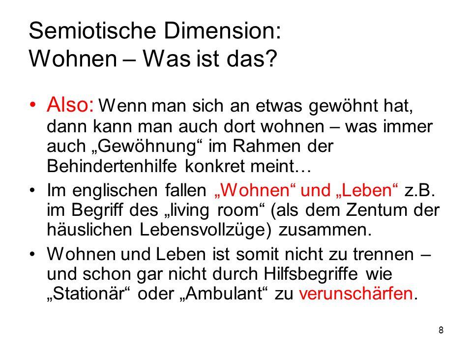 9 Semiotische Dimension: Wohnen – Was ist das.