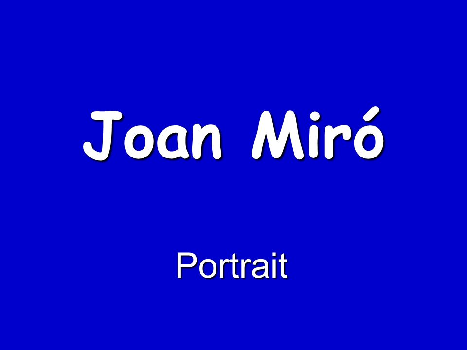 Joan Miró Portrait