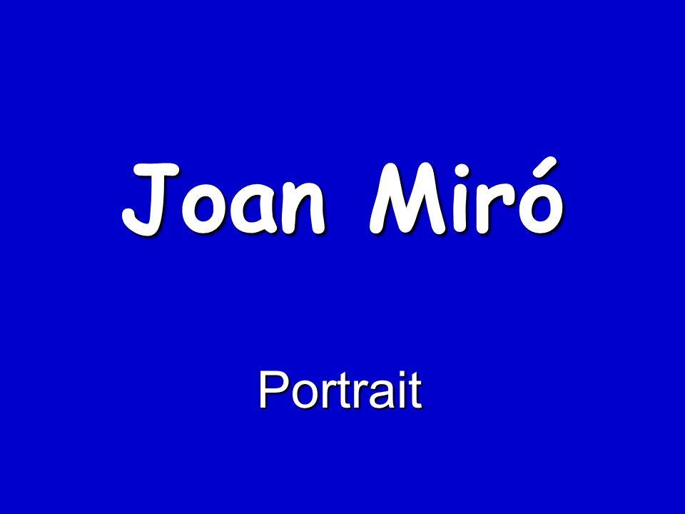 Wenn Miró einen Punkt setzt, gelingt er ihm immer genau.