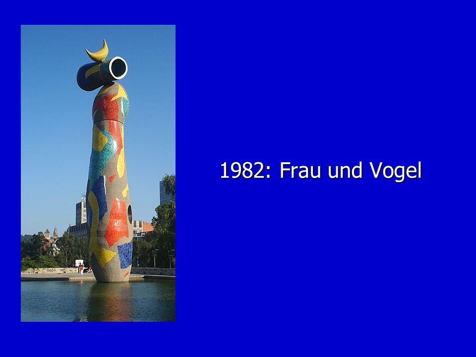 1982: Frau und Vogel