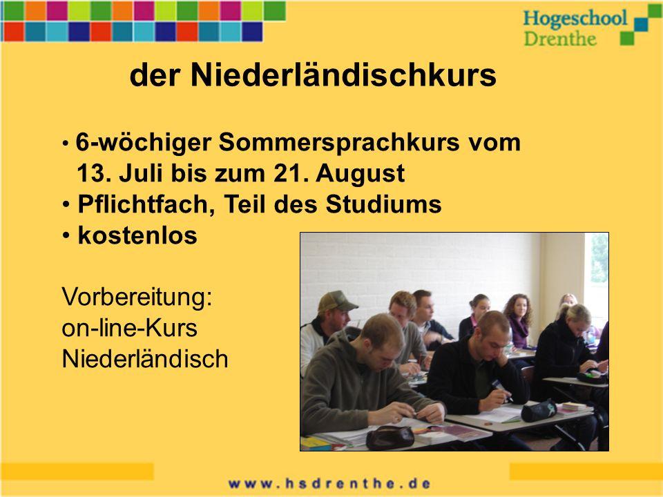 Niederländisch unterricht der Niederländischkurs 6-wöchiger Sommersprachkurs vom 13.