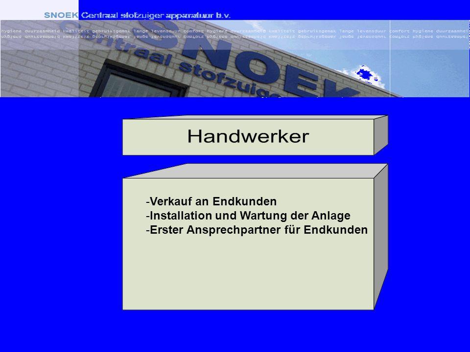-Verkauf an Endkunden -Installation und Wartung der Anlage -Erster Ansprechpartner für Endkunden