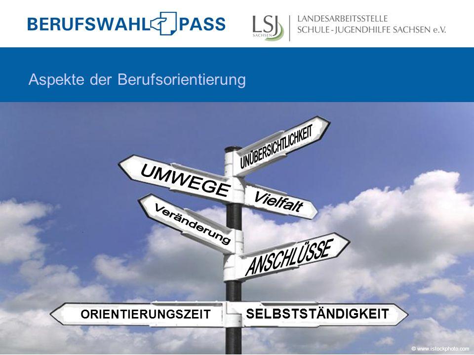Aspekte der Berufsorientierung ORIENTIERUNGSZEIT SELBSTSTÄNDIGKEIT © www.istockphoto.com
