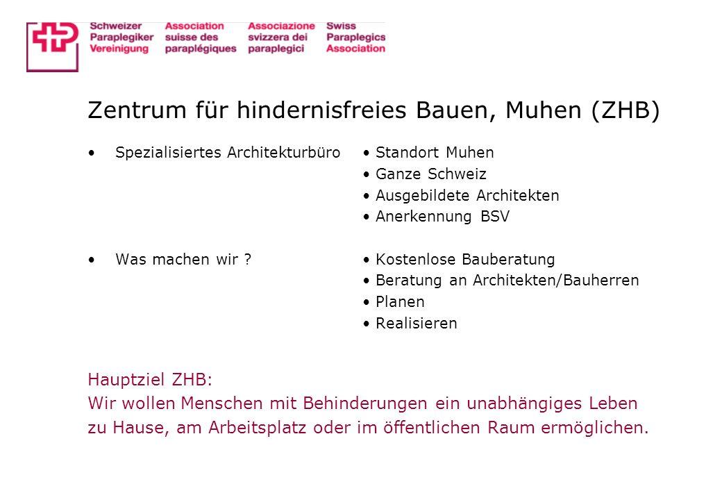 Behinderungsbegriff allgemeines Defizit der gebauten Umwelt CH: ca.