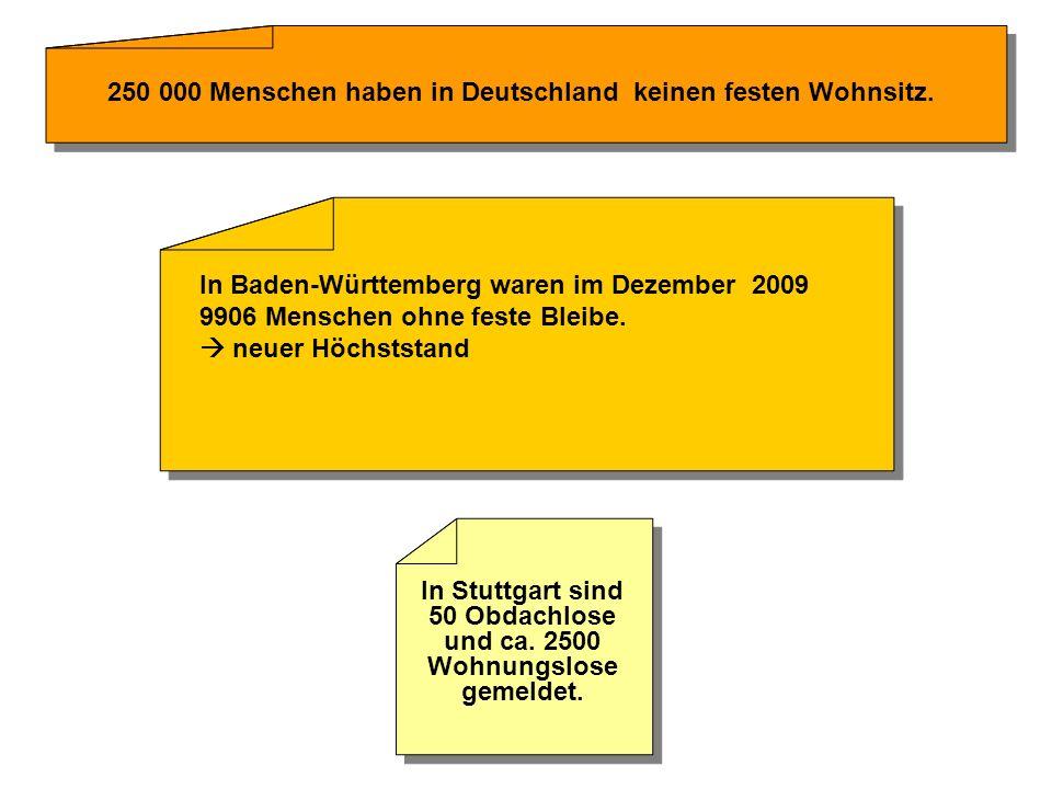 ?????. 250 000 Menschen haben in Deutschland keinen festen Wohnsitz.