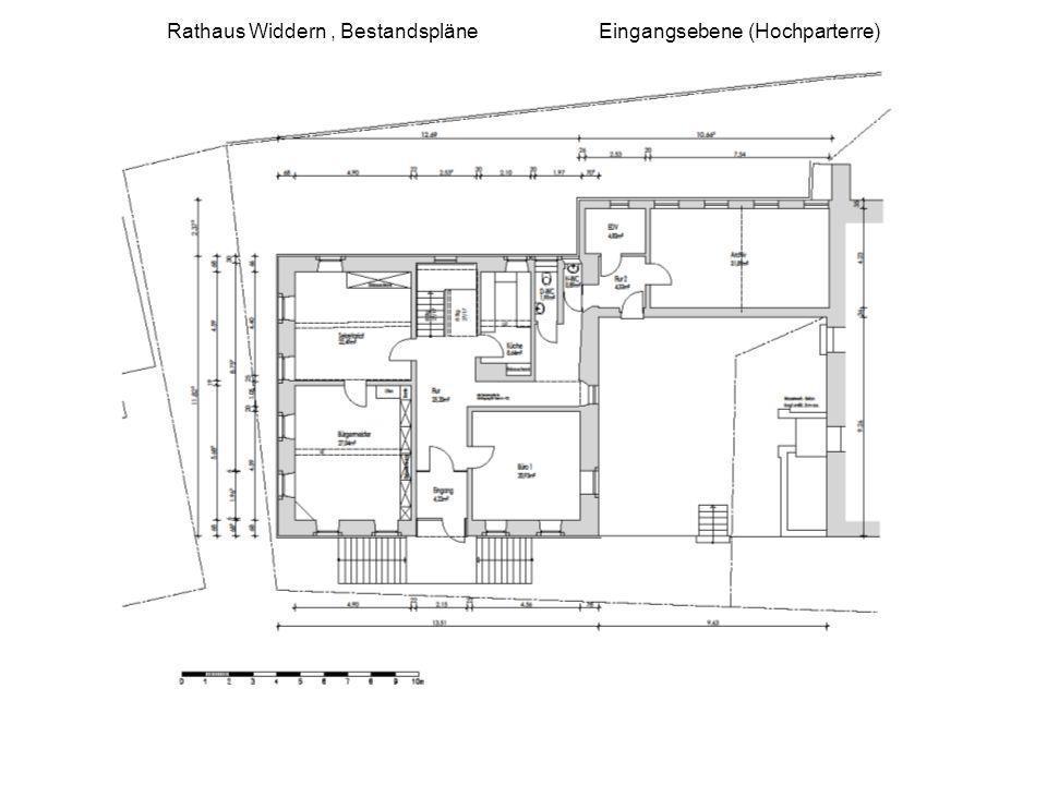 Rathaus Widdern, Bestandspläne Eingangsebene (Hochparterre)