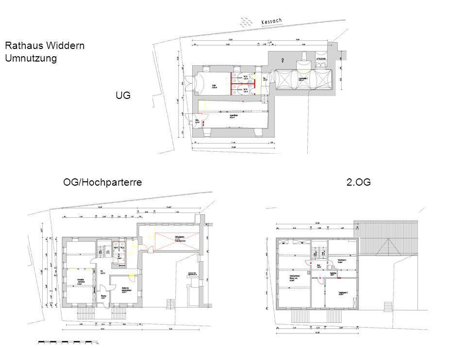 Rathaus Widdern Umnutzung UG OG/Hochparterre 2.OG