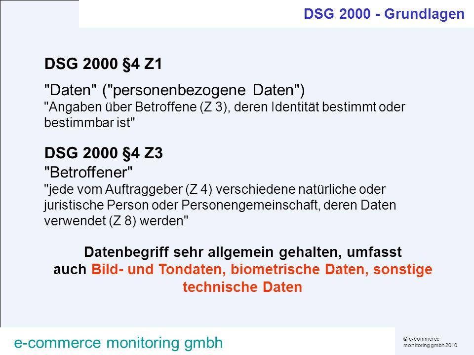 © e-commerce monitoring gmbh 2010 e-commerce monitoring gmbh DSG 2000 §4 Z1