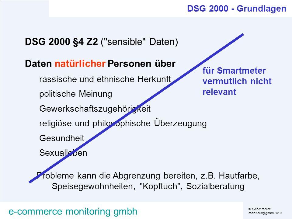 © e-commerce monitoring gmbh 2010 e-commerce monitoring gmbh DSG 2000 §4 Z2 (