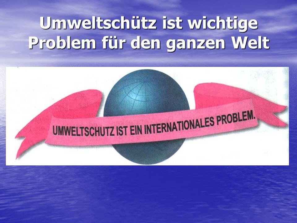 Man legt in Deutschland viel wert auf Recycling, d.h. auf die Verarbeitung des Mülls.