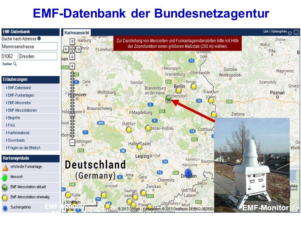 EMF-Datenbank der Bundesnetzagentur EMF-Monitor