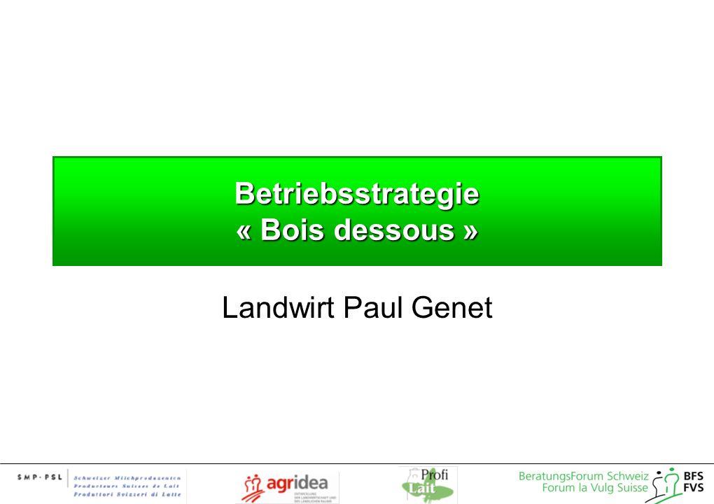 Betriebsstrategie « Bois dessous » Landwirt Paul Genet