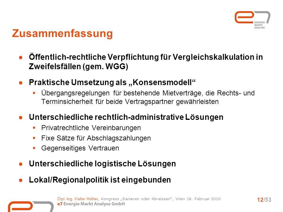Dipl.-Ing.Walter Hüttler, Kongress Sanieren oder Abreissen, Wien 18.