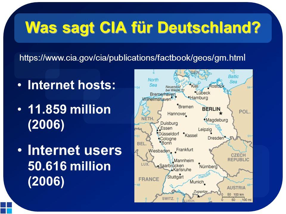 Was sagt CIA für Deutschland.