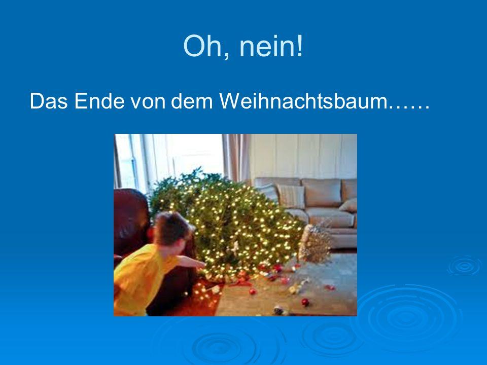Oh, nein! Das Ende von dem Weihnachtsbaum……
