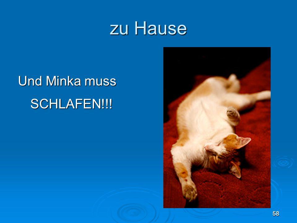 zu Hause Und Minka muss 58 SCHLAFEN!!!