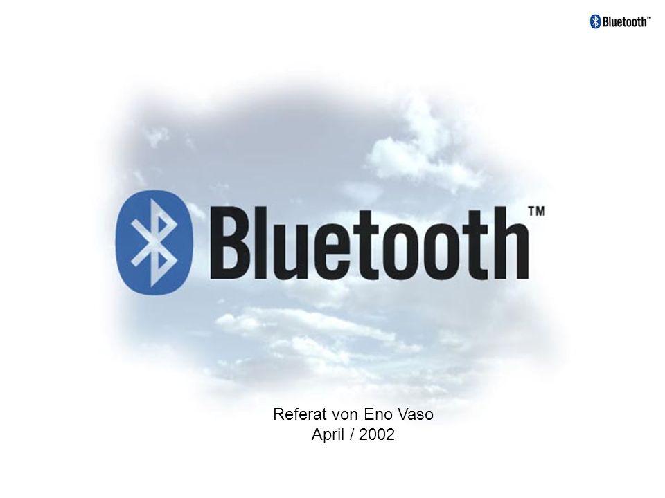 Überblick: Geschichte und Entwicklung Einleitung und Eckdaten Netzwerk-Definition / Topologien Die Technik Verbindungsarten Paketaufbau Die Kontaktaufnahme Bluetooth Physical Layer und Protokoll Layer Die Sicherheit Einsatzgebiete von Bluetooth Bluetooth im Vergleich zu anderen Technologien Zukunftsvisionen