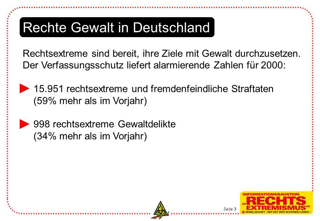 Rechte Gewalt in Deutschland Rechtsextreme sind bereit, ihre Ziele mit Gewalt durchzusetzen.